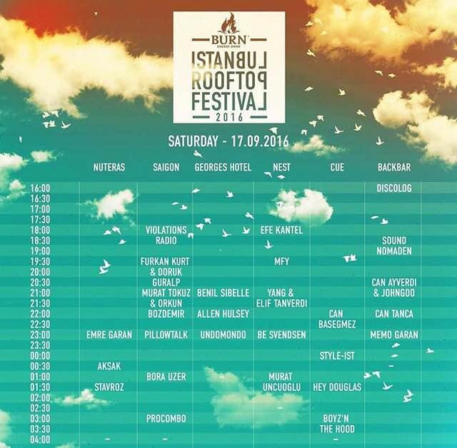 Burn İstanbul Rooftop Festival 2016